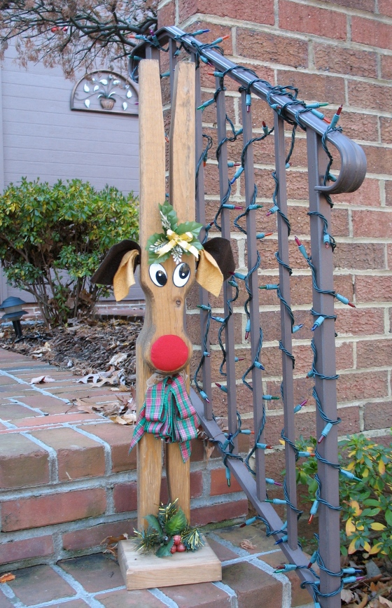 medium deer statue