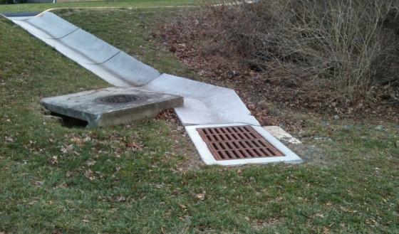 concrete storm drain