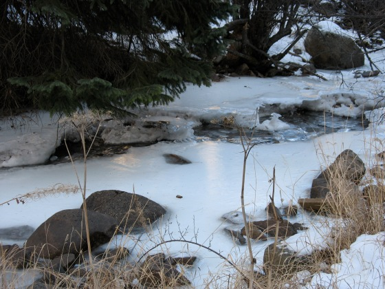ice on mountain creek