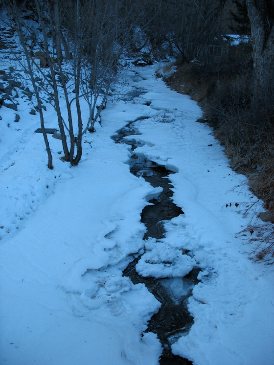 iced over creek