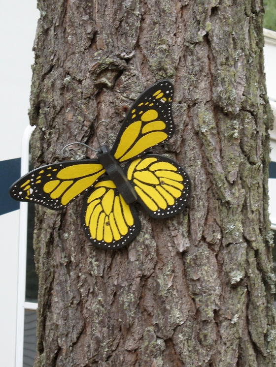 Yellow Butterfly statue