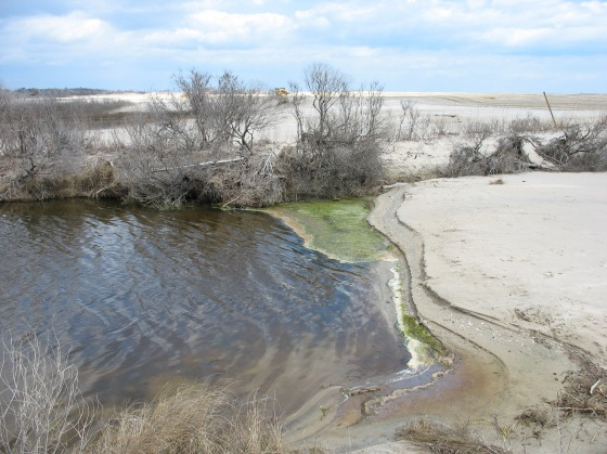 sand-filled impoundment