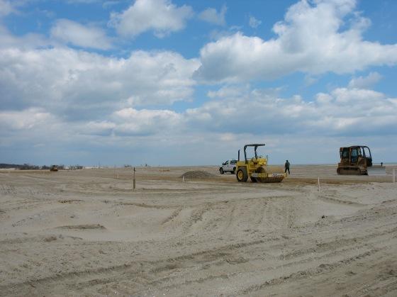 beach restoration work