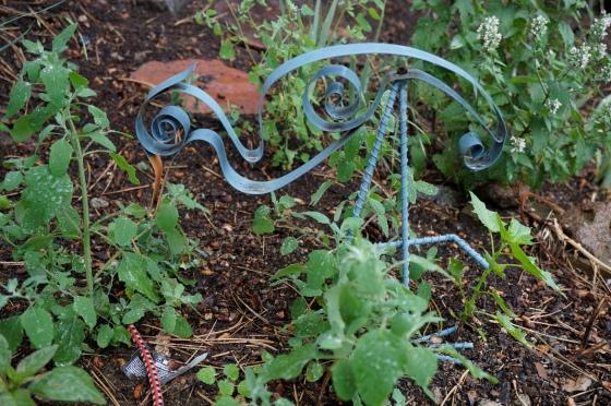 Great Blue Heron garden statue