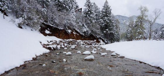 Rocks in creek