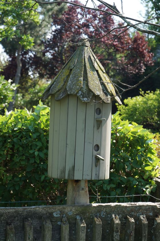 round birdhouse