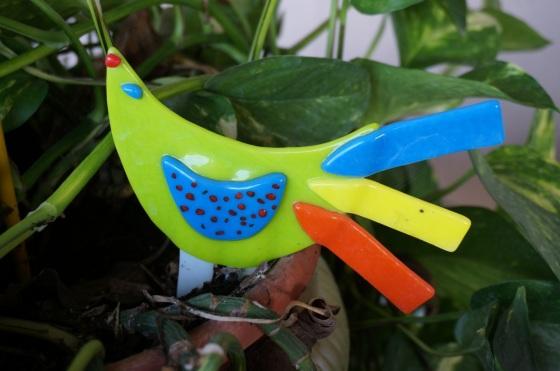 Bright bird statue