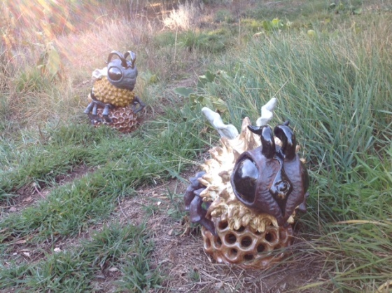 Two Bees_Bee Wildlife Statue