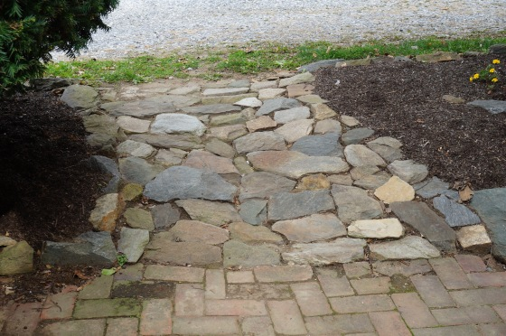Rock path - drainage solution