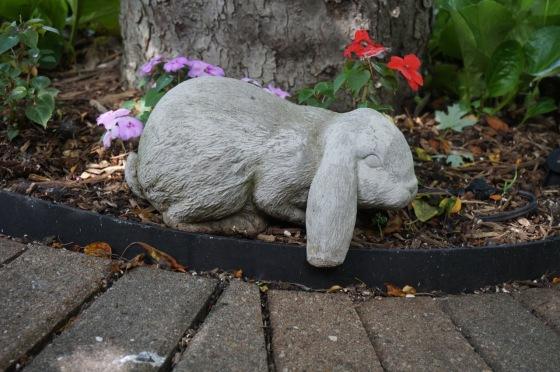 Lop bunny wildlife statue