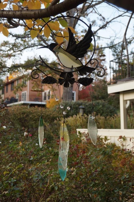 Hummingbird wildlife statue